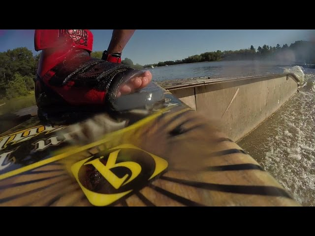Two Wakeboarders on One Wakeboard