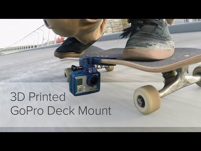 3D Printed GoPro Skateboard Mount
