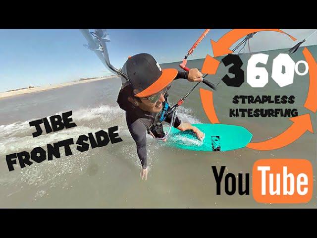360 Strapless Kitesurfing Frontside jibe