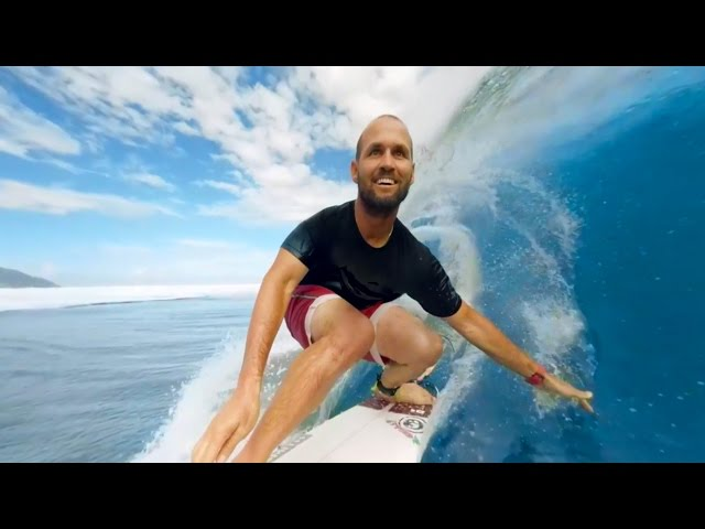 VR Surfing In Tahiti With CJ Hobgood