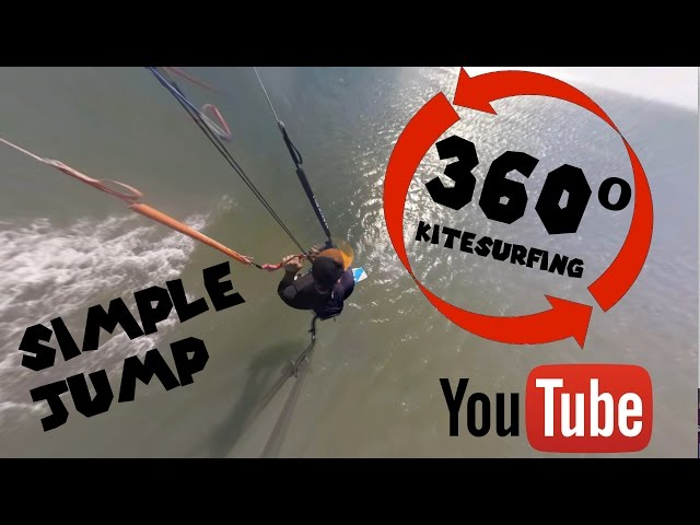 Kitesurfing Jump 360 degrees view