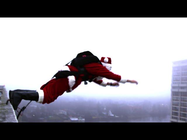 Santa BASE jump!