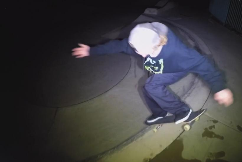 Lume Cube Night Skateboarding