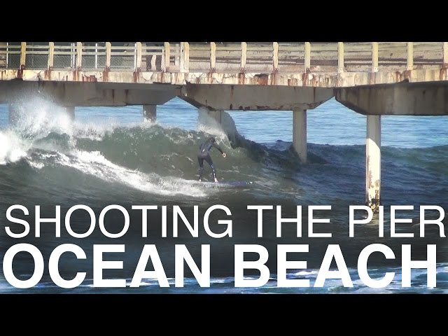 Surfers Shooting the Ocean Beach Pier (San Diego)