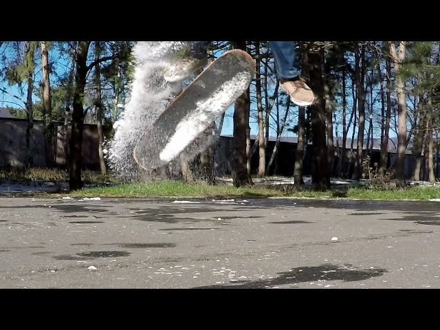 SKATEBOARDING KICKFLIP SLOW MOTION 240 FPS GOPRO 4