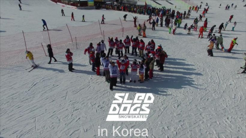 Inline snowskating in Korea with SledDogsSkates