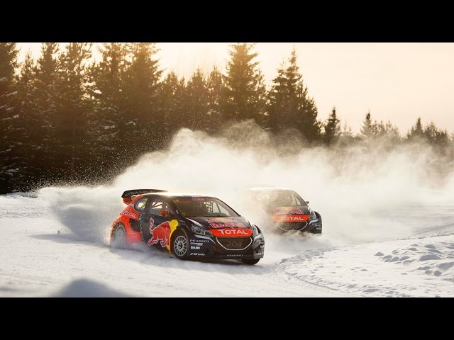 Rallycross on Ice with Sebastien Loeb