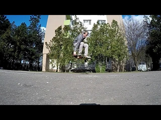 POP SHOVE IT TAIL GRAB SLOW MOTION 240 FPS