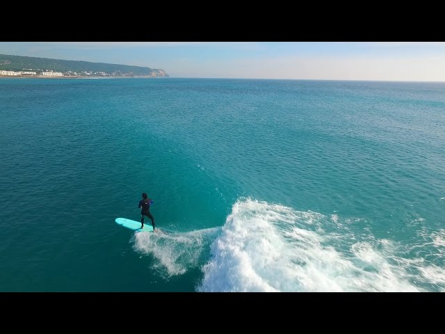Amazing surf drone footage in Southwest Spain