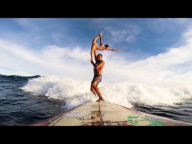 Tandem Surf Champs Kalani Vierra and Krystl Apeles