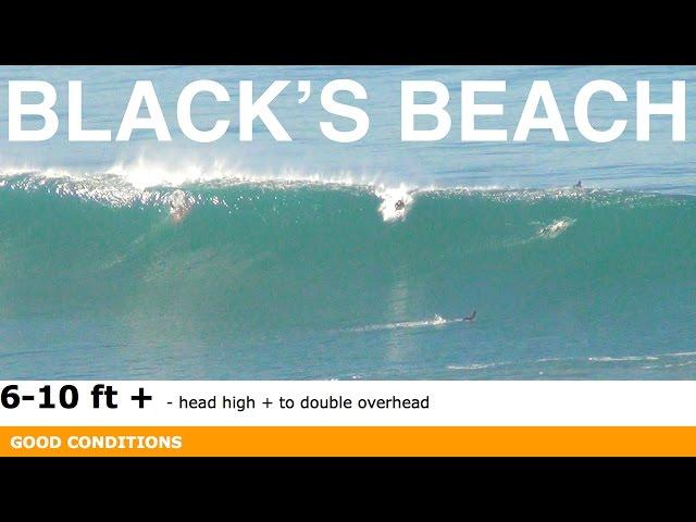 Big Waves, High Tide Black's Beach - NO BARRELS