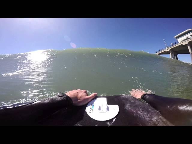 Bodyboarding POV HB Pier Southside | March 8th | 2