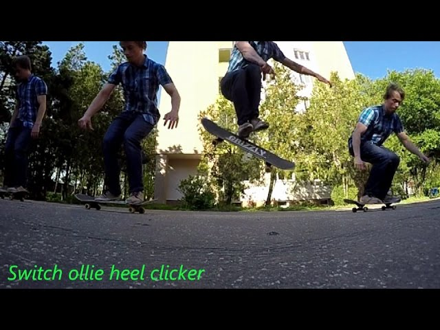 SWITCH OLLIE HEEL CLICKER SLOW MOTION 240 FPS