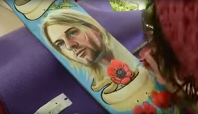 AMAZING SPEED PAINTING | SKATEBOARD ART