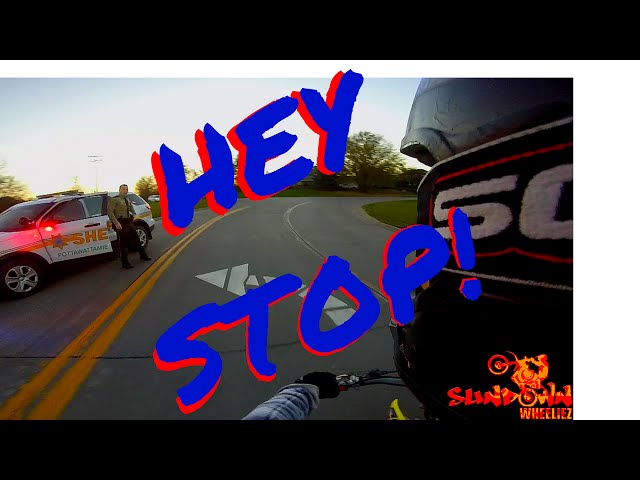 DIRTBIKE VS COPS POLICE CHASE WITH GETAWAY