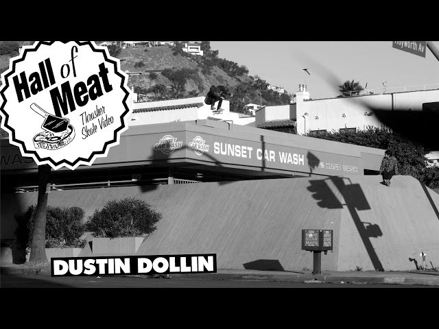 Dustin Dollin trys to kickflip sunset carwash bank