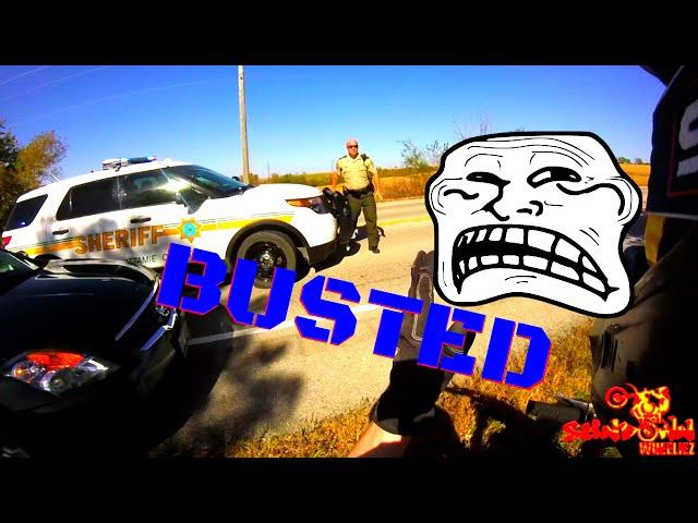 POLICE VS DIRTBIKE MILE LONG WHEELIE FRONT OF COP