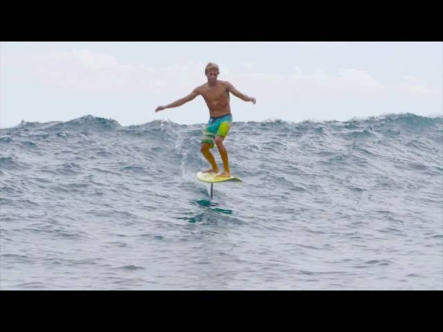 World's First Hydrofoil Surf Session