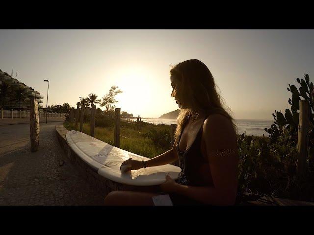 Chloe Calmon Surfs Rio De Janeiro