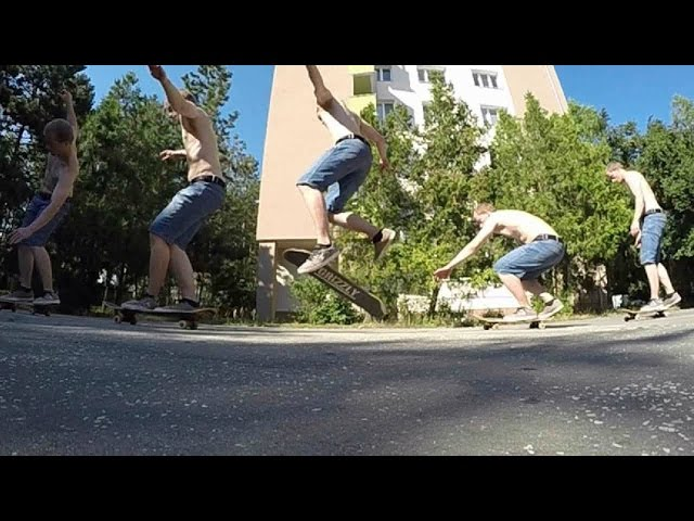 KICKFLIP SEX CHANGE CROSS FOOT SLOW MOTIO 240 FPS