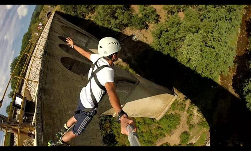 BUNGEE JUMPING HIGHJUMP GOPRO