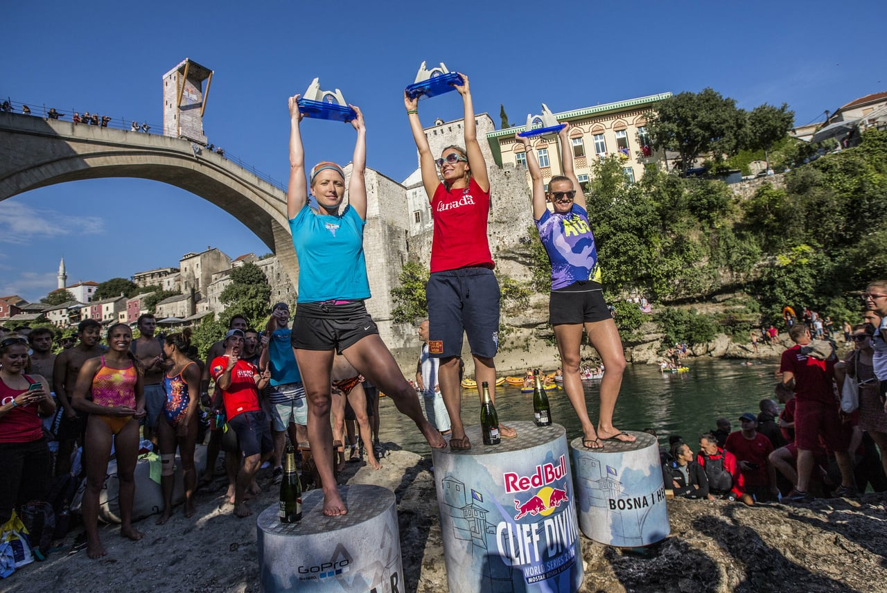 Red Bull Cliff Diving 2016 Winning Dive Women, BIH
