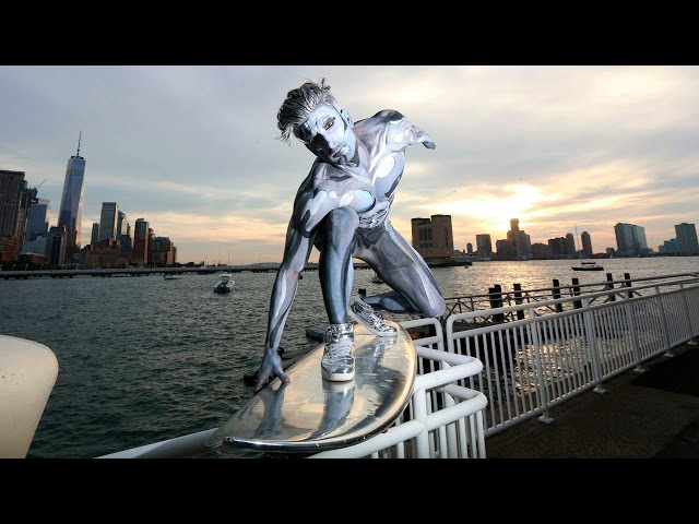 Silver Surfer In NYC