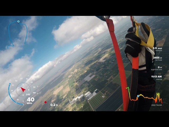 Skydiving With GoPro Telemetry GPS Data
