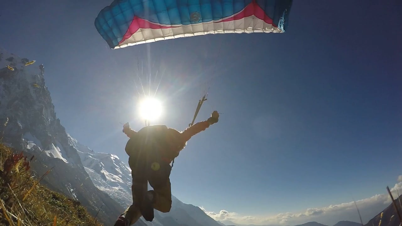 The sun, the sky and the alps #speedflying #DobDur