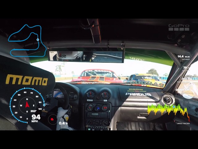 Car Racing With GoPro Telemetry GPS Data