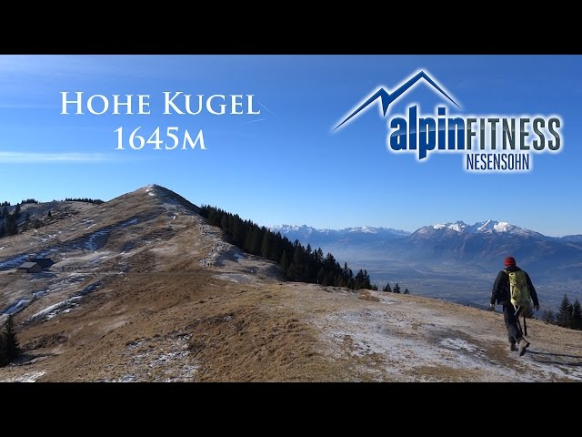 Hiking from Ebnit to HOHE KUGEL 1645m
