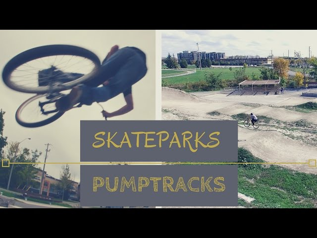 SHREDDING NEW SKATEPARKS | Street MTB