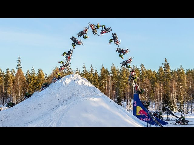 Daniel Bodin Lands Huge Double Backflip on a Snowm