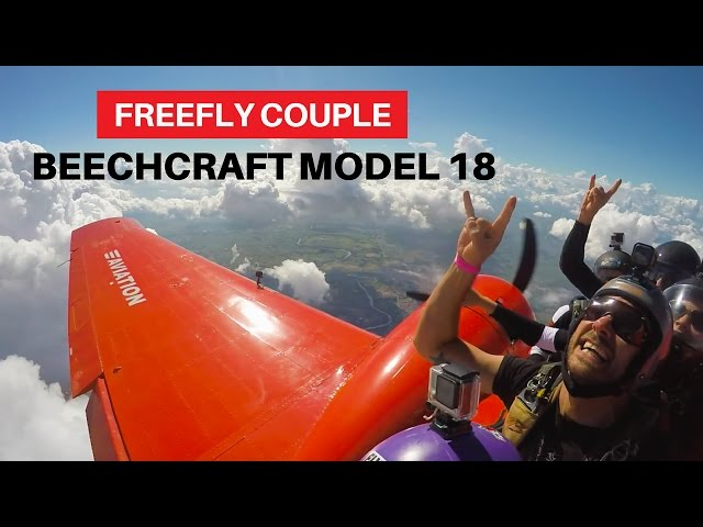 FreeFly Couple Jump From a Beechcraft Model 18