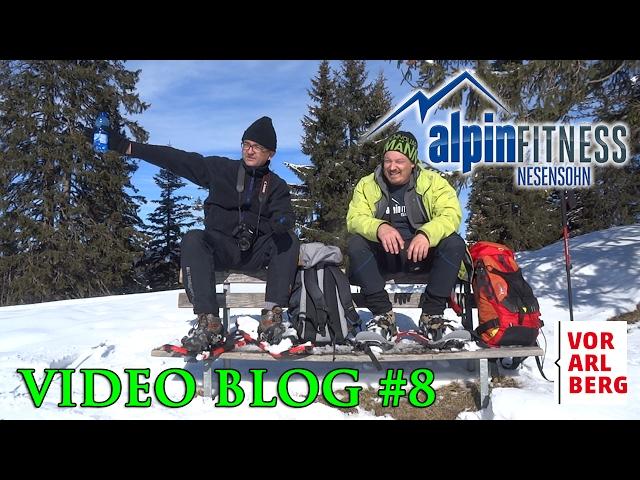 First snowshoe tour VLOG #8
