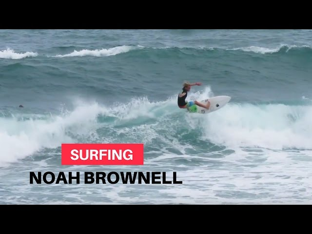 Noah Brownell Surfing Barbados 2016