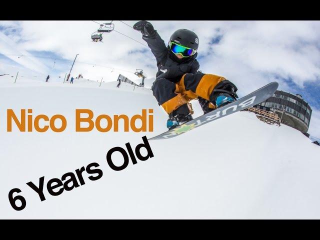 Amazing 6 year-old Snowboarder Nico Bondi