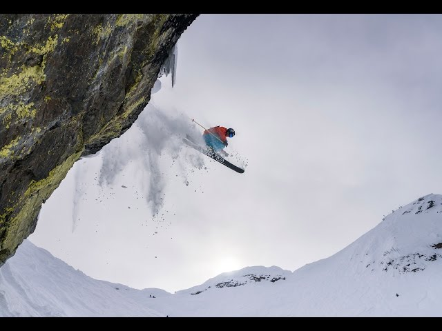 Hucking cliffs and Skiing Powder at Kicking Horse