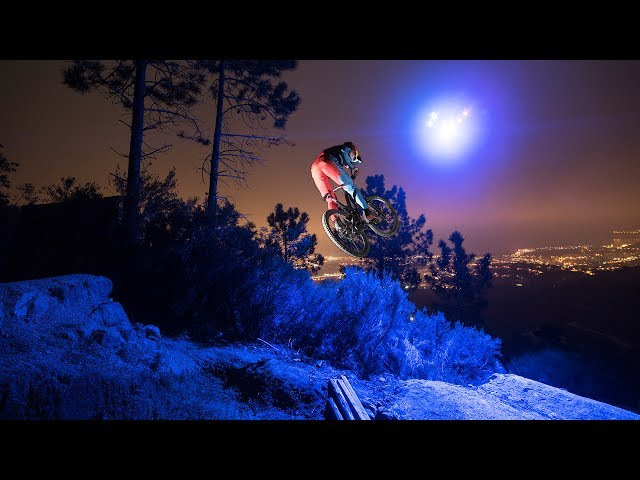 Midnight MTB Ride With Drone Light