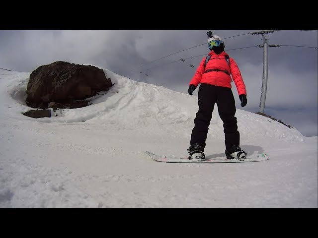 Snowboarding in La Parva, Chile