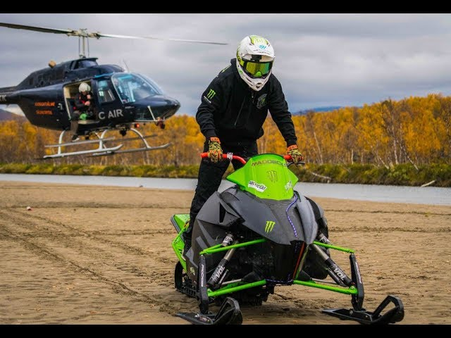 Snowmobile + heli = DISASTER!
