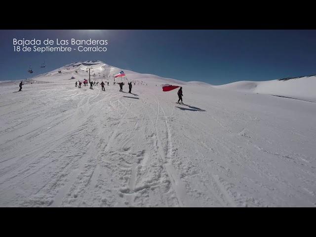 National Day in Corralco Ski Resort