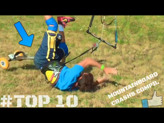 #TOP10 _ LAND KITESURF Crashs _ Mountainboard Edit