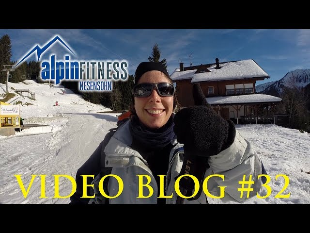 Meike first time on skis :: Alpinfitness VLOG #32