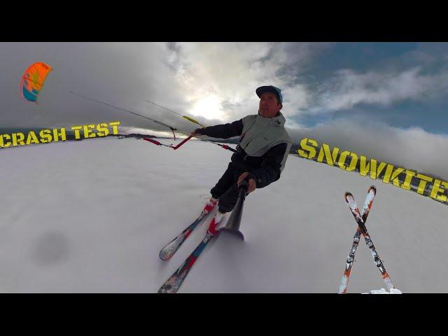 CRASH TEST : Du SNOWKITE avec des SKIS ?