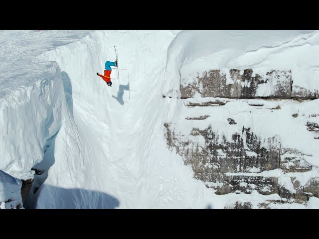 Jackson Hole Skiing Huge Corbet's Couloir Backflip