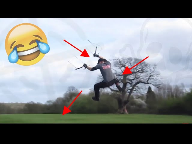 #TOP10 LAND KITESURF CRASHS Compilation - Powerkit