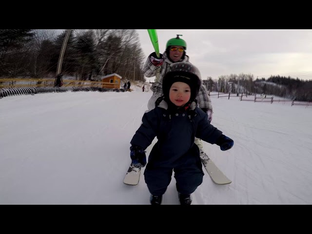 Kai's First Time Skiing 1yr 20m Old