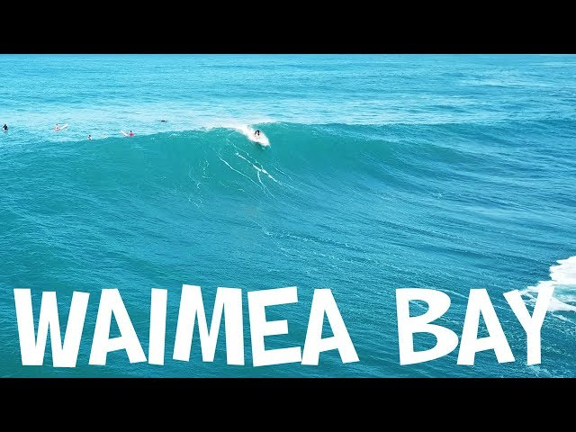 WAIMEA BAY SURFING 2018