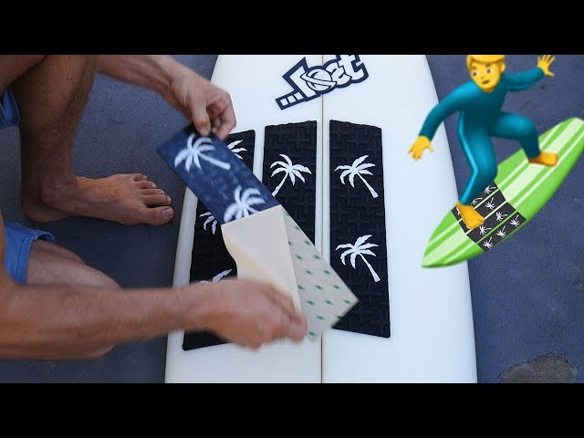 SURFBOARD FRONT TRACTION PAD INSTALLATION